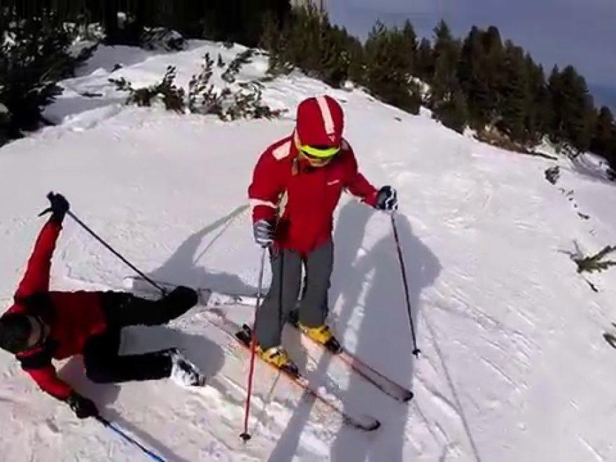 amateurs de ski
